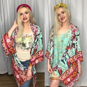 SALE Umgee NWT Boutique Kimono Boho Art Deco